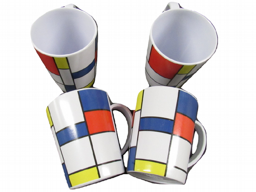x4 Tea and Coffee Camping Melamine Mugs - Outdoors Home Office Picnic